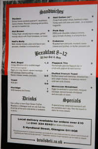 Devil's Deli Menu